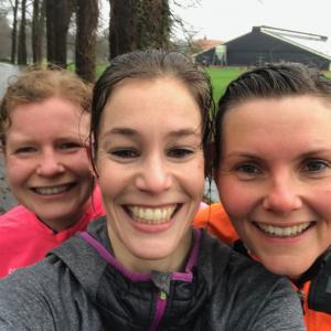 Marlin, Marijke en Bianca konden nog lachen na de race