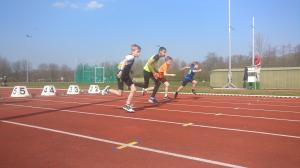 Odin tijdens zijn sprint.
