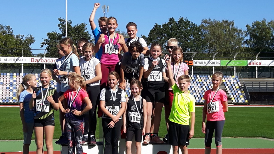 Podium vol MPM'ers tijdens Athletics Champs