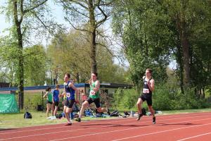 Pim in actie op de 200m