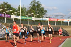 Arne, Tom en Branco op de 800m