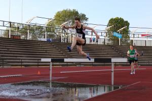 Mart Nijhuis springt over de waterbak