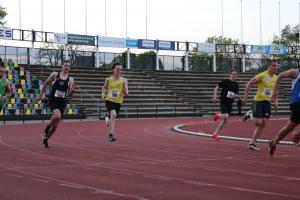 Pim, Yvar en Tom op de 200m