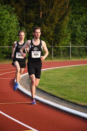 Mart en Arne op de 3000m