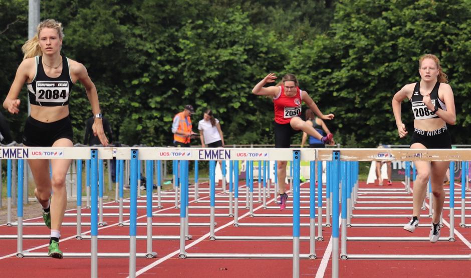 Lena en Janne op de 100m horden
