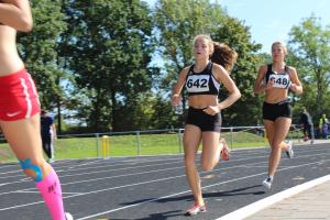 Amber en Emma op de 800m