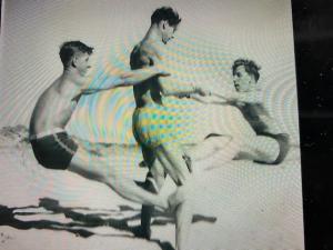 Een iconische foto uit de beginjaren van marathon '50 met rechts Gerard Hoveling