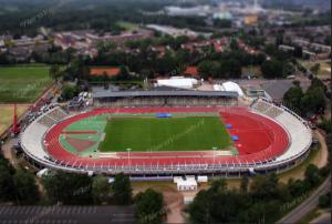 Een prachtige Aerial het FBK stadion (van Tjerk Verbraaken)